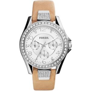 Fossil ES3889 Uhrenarmband Leder Braun