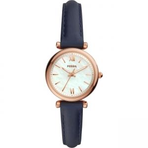 Fossil Carlie Mini ES4502 Uhrenarmband Leder Blau