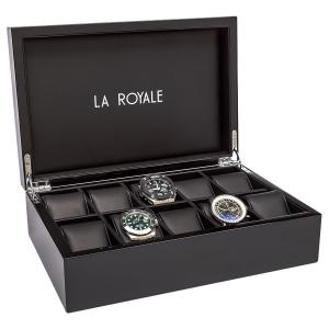 La Royale Felice XL Klavierlack Uhrenbox - 10 Uhren