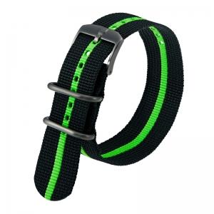 Luminox 3050, 3060, 3080, 3090, 3150, 3950 ZULU Strap Black Green Nylon 23mm - FN.3950.35