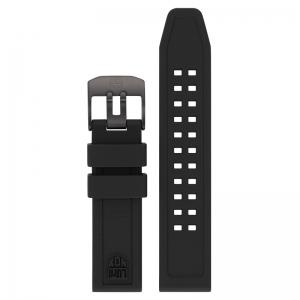 Luminox 7050 7060 Series Uhrenarmband Gummi Schwarz 20mm - FP.7050.20B