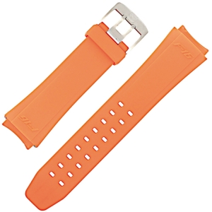 Luminox Serien 9109, 9123, 9125, 9129 Uhrenarmband F16 Fighting Falcon Gummi Orange