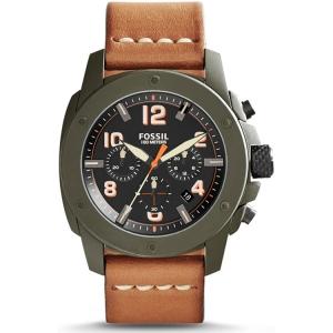 Fossil FS5035 Uhrenarmband Leder Braun