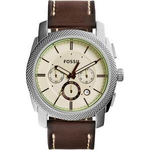 Fossil FS5108 Uhrenarmband Leder Braun