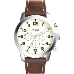 Fossil FS5146 Uhrenarmband Leder Braun