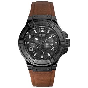 Guess Uhrenarmband W0040G8 Rigor - Braunes Sattelleder