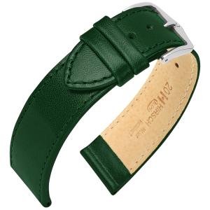 Hirsch Osiris Uhrenarmband Rindbox Leder Grün