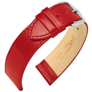 Hirsch Osiris Uhrenarmband Rindbox Leder Rot