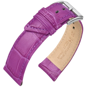 Hirsch Princess Uhrenarmband Alligatorgrain Violet