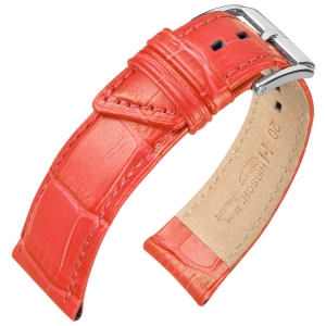Hirsch Princess Uhrenarmband Alligatorgrain Altrosa