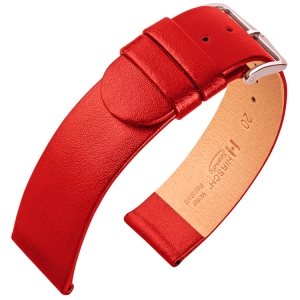 Hirsch Scandic Uhrenarmband Rot