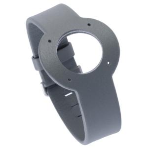 Jacob Jensen Uhrenarmband Strata Graues Leder 20mm