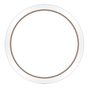 Marc Coblen Lünette 45mm Stahl Rosegold Weisser Keramikrand - MCB45RCWHITE
