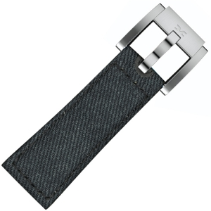 Marc Coblen / TW Steel Uhrenarmband Dunkelblau Denim auf Leder 22mm
