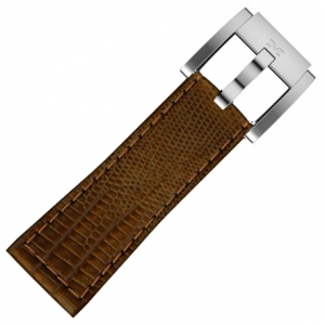 Marc Coblen / TW Steel Uhrenarmband Braun Leder Schlange 22mm