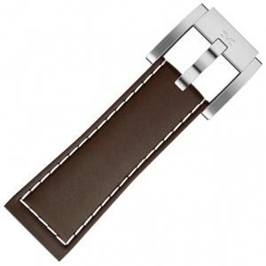 Marc Coblen / TW Steel Uhrenarmband Leder Braun 22mm