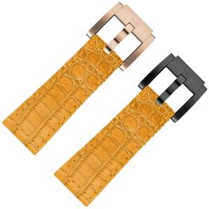 Uhrenarmband Kalbsleder Alligator Orange 22mm - Marc Coblen