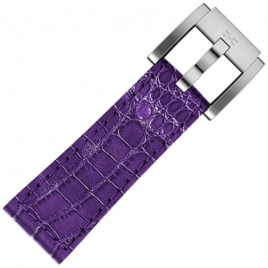 Uhrenarmband Leder Lila Alligatorprint 22mm - Marc Coblen