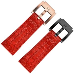 Uhrenarmband Leder Rot Alligatorprint 22mm - Marc Coblen