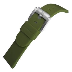 Marc Coblen / TW Steel Silikon Uhrenarmband Armee Grün 22mm
