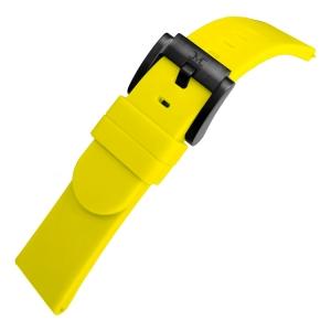 Marc Coblen / TW Steel Silikon Uhrenarmband Zitronengelb 22mm