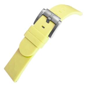 Silikon Uhrenarmband Pastellgelb 22mm - Marc Coblen