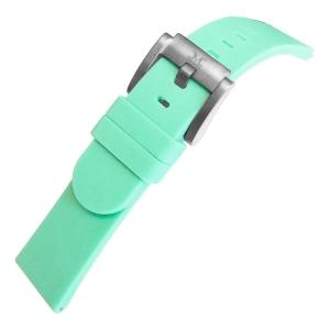 Silikon Uhrenarmband Pastellgrün 22mm - Marc Coblen
