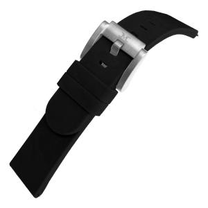 Marc Coblen / TW Steel Silikon Uhrenarmband Schwarz 22mm