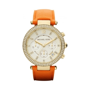 Michael Kors MK2279 Uhrenarmband Leder Orange