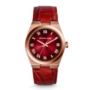 Michael Kors MK2357 Uhrenarmband Leder Rot