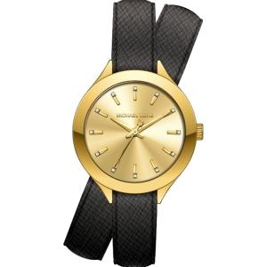 Michael Kors MK2502 Uhrenarmband Leder Schwarz
