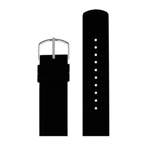 Picto Uhrenarmband Gummi Schwarz - 43370 - 20mm