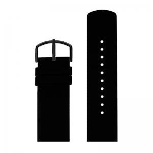 Picto Uhrenarmband Gummi Schwarz - 43362 - 22mm