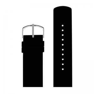 Picto Uhrenarmband Gummi Schwarz - 43371 - 22mm