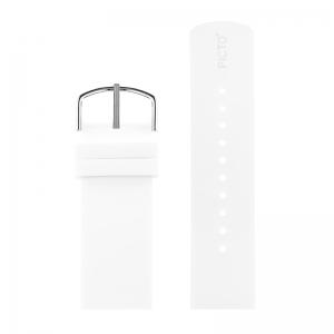 Picto Uhrenarmband Gummi Weiss - 43365 - 22mm