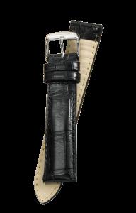 Fromanteel Alligatorgrain Uhrenarmband Schwarz
