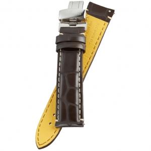 Fromanteel Pendulum Uhrenarmband Alligatorgrain Braun Leder mit Faltschliesse L/XL