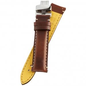 Fromanteel Pendulum Uhrenarmband Kalbsleder Geölt Braun mit Faltschliesse L/XL