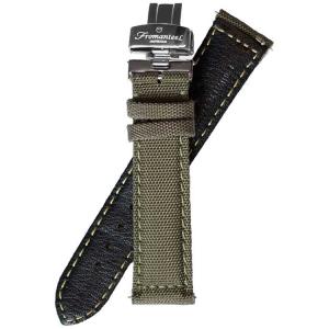 Fromanteel Nylon auf Leder Uhrenarmband Grün mit Faltschliesse