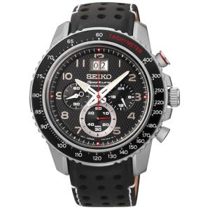 Seiko Sportura Uhrenarmband SPC139P1 Leder Schwarz