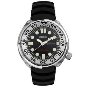 Seiko Sawtooth Uhrenarmband SHC063 SHC061 Gummi Schwarz