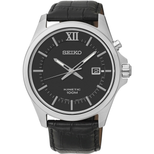 Seiko Kinetic Uhrenarmband SKA573P2 Leder Schwarz