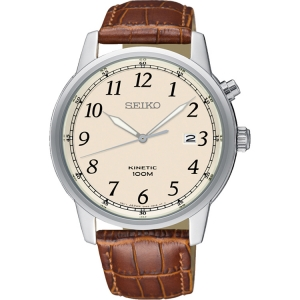 Seiko Kinetic Uhrenarmband SKA779 Leder Braun
