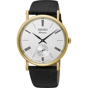 Seiko premier Uhrenarmband SRK036P1 Leder Schwarz
