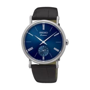 Seiko Premier Uhrenarmband SRK037P1 Leder Schwarz