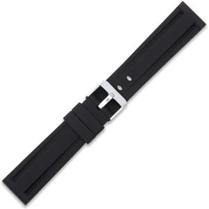Silikon Uhrenarmband Panerai Stil Schwarz