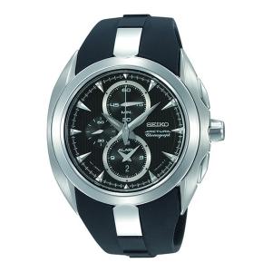Seiko Arctura Chronograph Uhrenarmband SNAC21 Gummi Schwarz