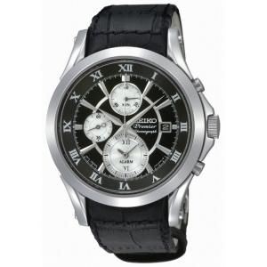 Seiko Premier Uhrenarmband SNAD29P1 Leder Schwarz
