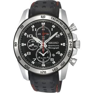 Seiko Sportura Uhrenarmband SNAE65P1 Leder Schwarz