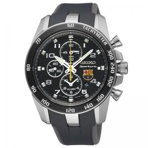 Seiko Sportura FC Barcelona Uhrenarmband SNAE93P1 Gummi Schwarz, Grau